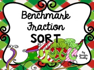 Benchmark Fraction Sort: Winter Holiday Freebies