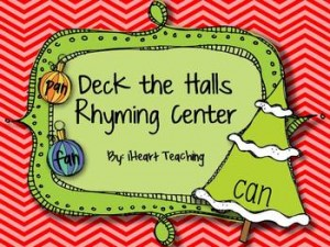 Deck the Halls Rhyming Center: Winter Holiday Freebies