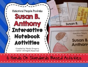 Susan B. Anthony Interactive Notebook Activities (History People Pockets)