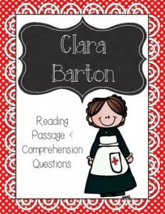 Clara Barton Reading Passage and Comprehension Questions