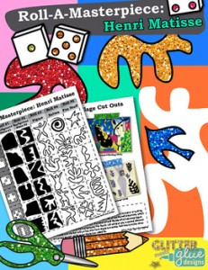 Roll-A-Masterpiece: Henri Matisse Art History Game - Collage Cut Outs Sub Ideas