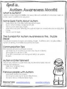 Autism Awareness Handout: Autism Resources