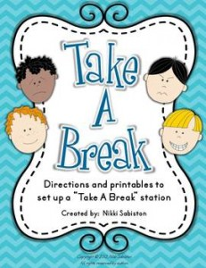 Take A Break - Behavior Management and Self Regulation: Autism Resources