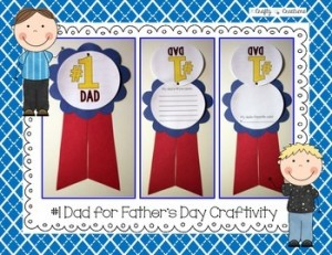 "Father's Day ""Number One Dad"" Craftivity"