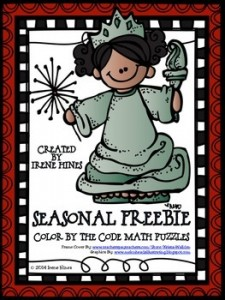 FREEBIE Summer Seasonal Math Printable Color By The Code Puzzle