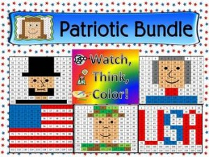 Patriotic Bundle Watch, Think, Color Games - EXPANDING BUNDLE