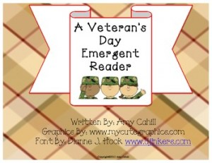A Veteran's Day Emergent Reader