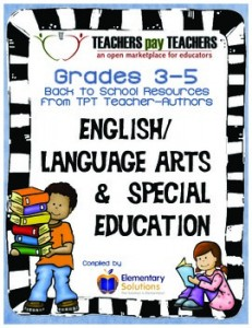 Grades 3-5 English Language Arts Back to School E-Book 2014-2015