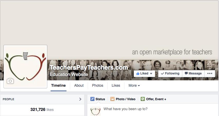 Teachers Pay Teachers Facebook