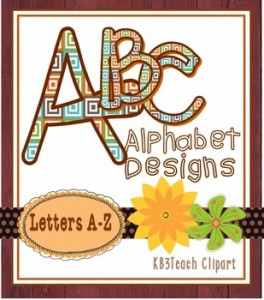 """Clipart: Alphabet Designs """"Symmetry In Motion"""" (Uppercase A-Z): Fall-Themed Classroom Resources"""