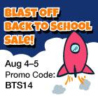 Blast Off Back-to-School Sale