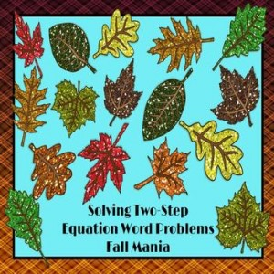 Two Step Equation Word Problems: Fall Mania PowerPoint Game: Fall-Themed Classroom Resources