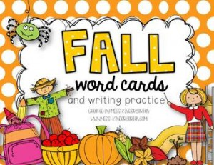 Fall Word Cards {and writing practice}: Fall-Themed Classroom Resources