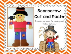 Scarecrow Cut and Paste: Fall-Themed Classroom Resources