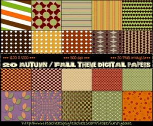 Autumn / Fall Theme Digital Papers: Fall-Themed Classroom Resources