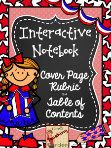 Interactive Notebook Freebie01