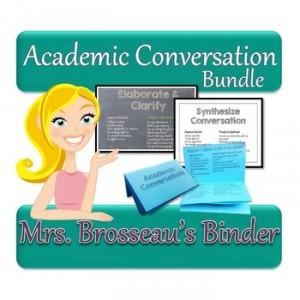Academic Conversations Bundle - Posters + Placemats + Student Flipbook
