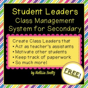 Creating Student Leaders in Class - Back to School, Class Management