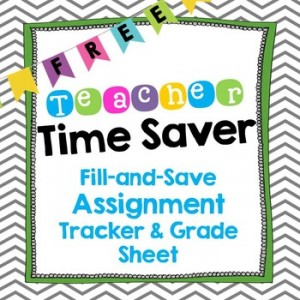 eacher Time Saver: Fill & Save Assignment Tracker and Grade Sheet