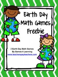 Earth Day Math Games Freebie