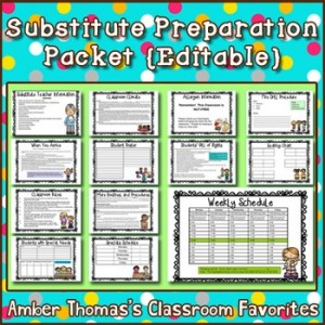 Substitute Preparation Packet