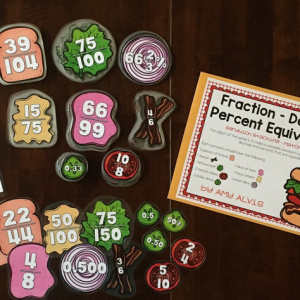 Fraction Decimal Percent Equivalence Game