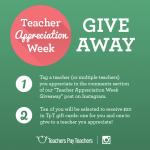 Instagram Giveaway – Teacher Appreciation Week