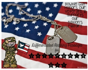 Veteran's Day: Honoring Our Military Differentiated Reading Passages