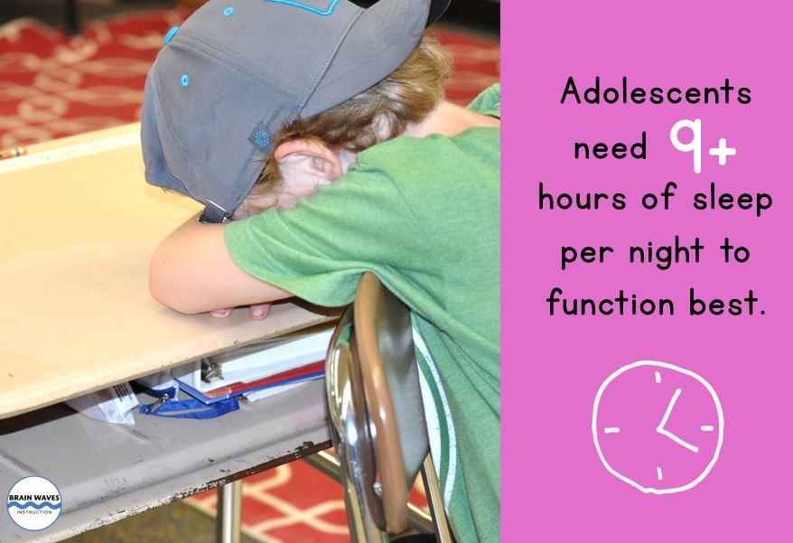 Update - Sleep Statistic - Middle School Mind