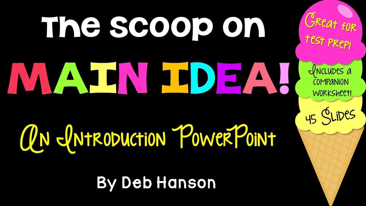 Main Idea cover