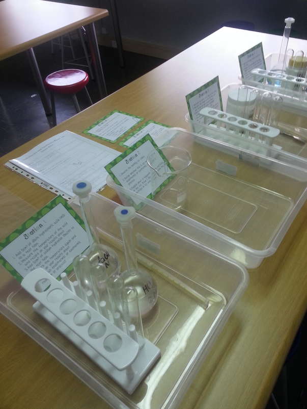 Plastic trays are a great way to stay organized, especially for science labs.