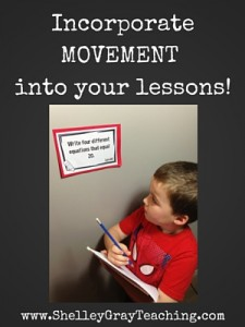Incorporate movement into your lessons!