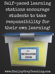 Self-paced learning stations encourage students to take responsibility for their own learning!