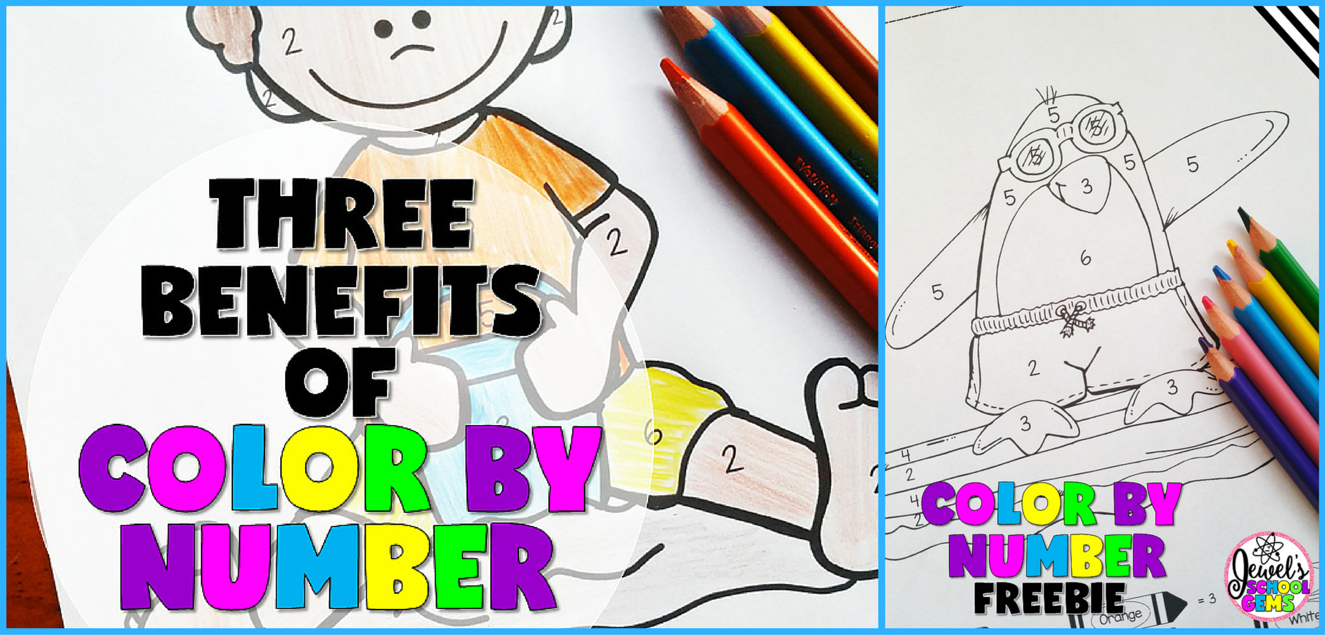 3 Benefits Of Color By Number Free Coloring Sheets The Tpt Blog