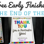 Free Early Finisher Activities for the End of the Year