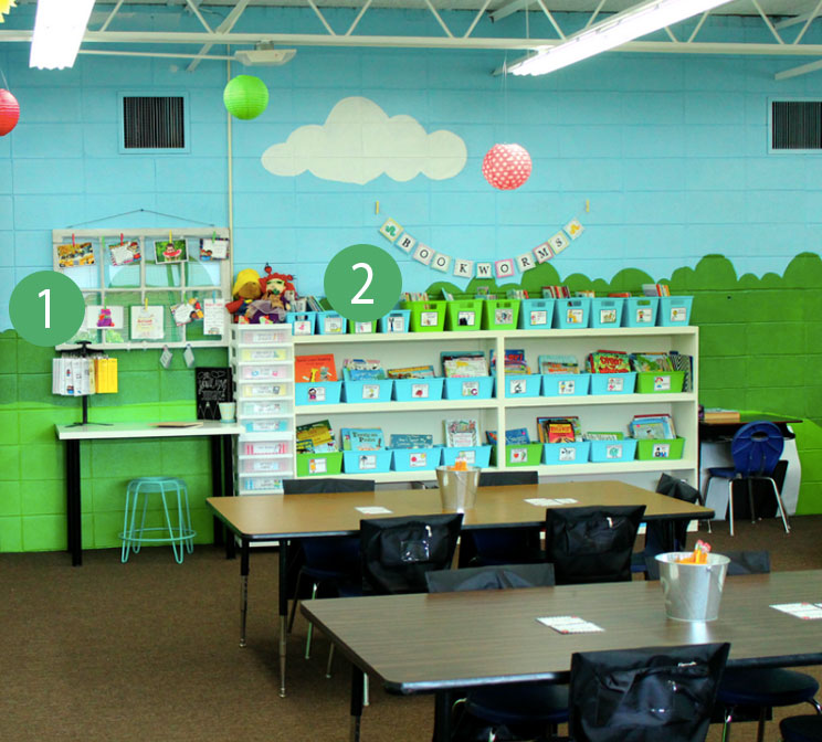 We absolutely adore Ashley Reed's classroom – it's so fun and looks like such a great space for learning. Many schools don't allow paint on the walls, but if yours does, this is great inspiration!