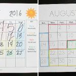 Visual, Color-Coded Calendars for Students With Special Needs
