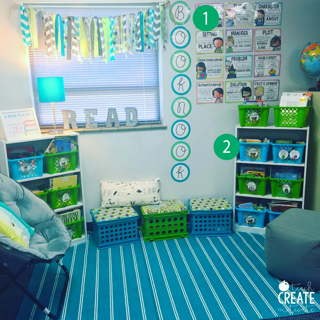 """My classroom library got a little upgrade but it's still my favorite spot in the room!"" says 3rd grade teacher Ashley of Teach Create Motivate!"