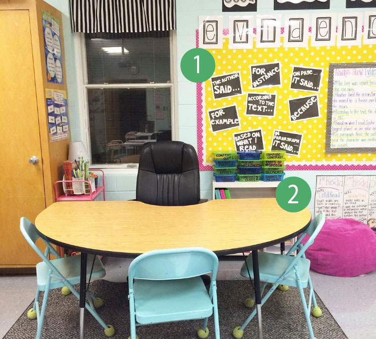 TpT'er Leslie Ann is so excited her group area is finished and ready for her students. Her 5th graders are going to love this area of her classroom.