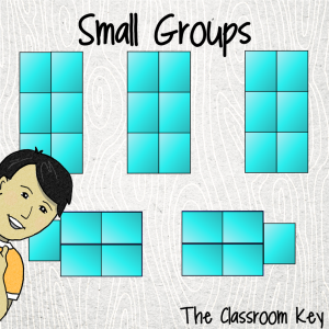 Small group classroom desk arrangement