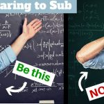 Preparing to Substitute? Be This, Not This