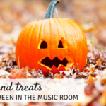 Tricks And Treats For Halloween in the Music Room
