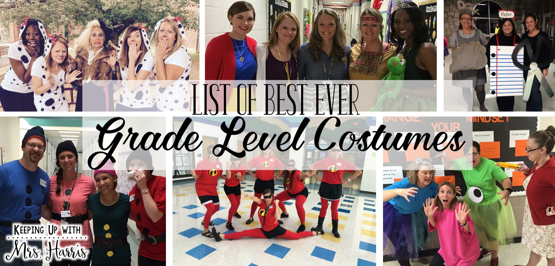 Classroom Dress Up Ideas ~ The best ever grade level costumes for teachers