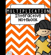 Multiplication interactive notebook, from Not So Wimpy Teacher, available on TpT