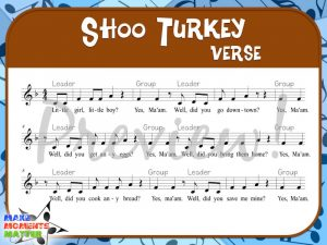 "While it's not officially a Thanksgiving song (it really is just a song about turkeys), ""Shoo Turkey"" definitely fits in with the fall season."