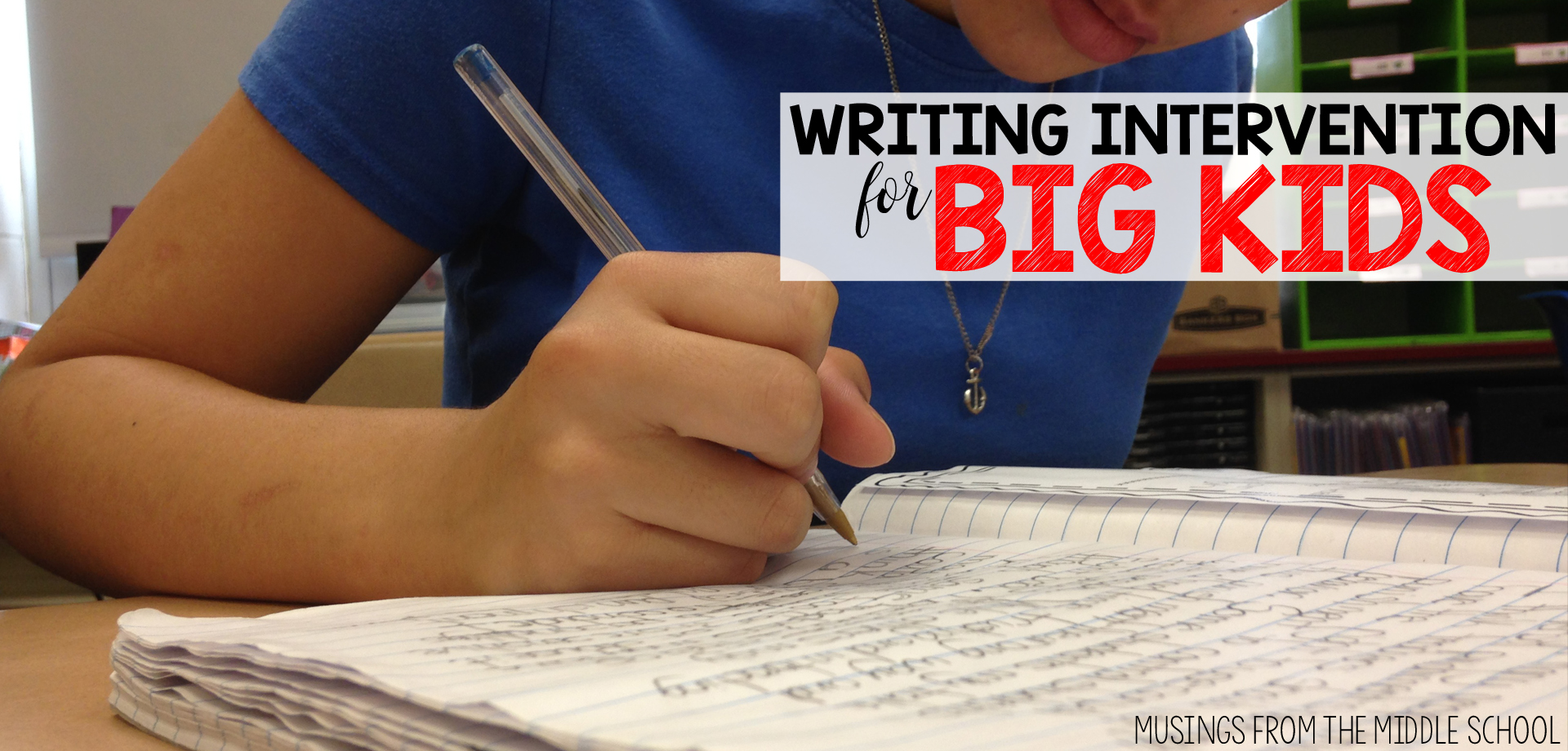 Even middle schoolers can struggle with writing. This Teacher-Author spent the time testing out different interventions to bring you tips that work!
