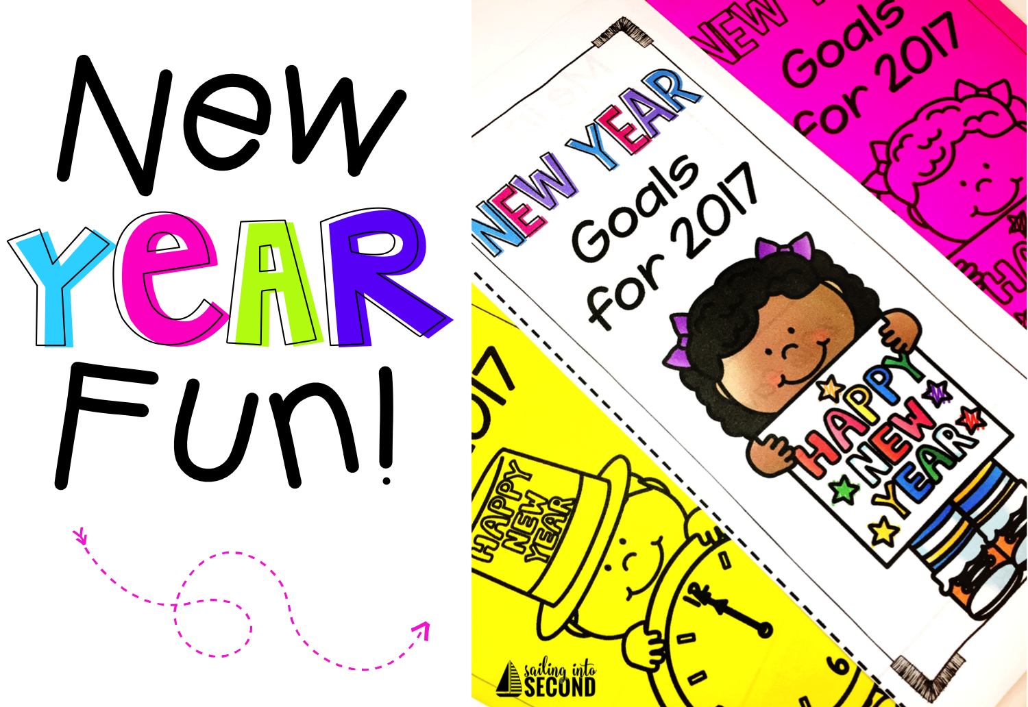 New Years is the perfect time to set goals or resolutions with your class. Get a fun brochure activity to start your students' year off with purpose!