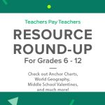 Resource Round-Up: Anchor Charts, World Geography, Middle School Valentines, and More!