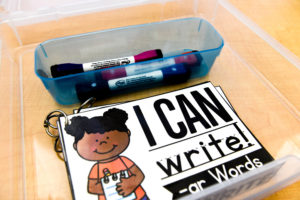 Pens and cards for the I Can Write phonics game