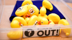 For the Switch It Out Phonics Game, you'll need rubber ducks and laminated words and pictures to paste to the ducks.
